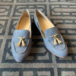 Cole Haan Sabrina Laced Loafer in Chambray-Gold